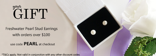 Free Freshwater Pearl Earrings with orders over $100