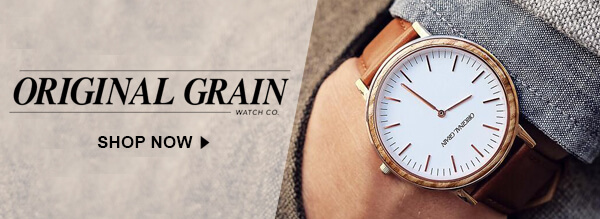 Shop Original Grain Wooden Watches
